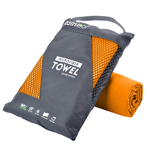 Rainleaf Microfiber Towel,Orange,20 X 40 Inches