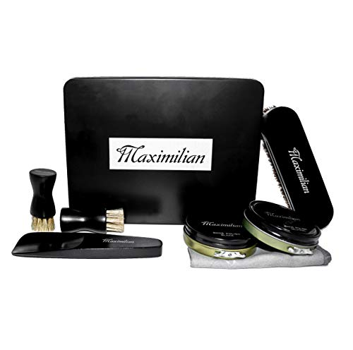 MAXIMILIAN Deluxe Business Leather Shoe Care Kits Shoe Shine Brush Kit for all Leather
