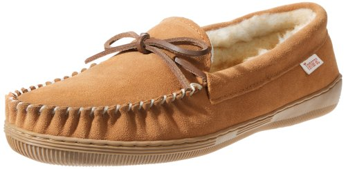 Tamarac by Slippers International Men's Camper Moccasin, Tan, 11 M US