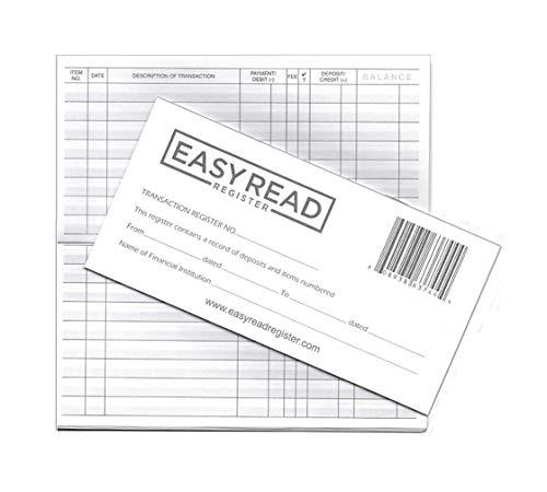 Checkbook Transaction Registers, 2020-2021-2022 Calendars by Easy Read Register, Pack of 10