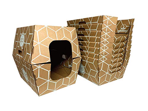 Cats Desire Biodegradable & Disposable Litter Box (Natural Brown) 10 Pack