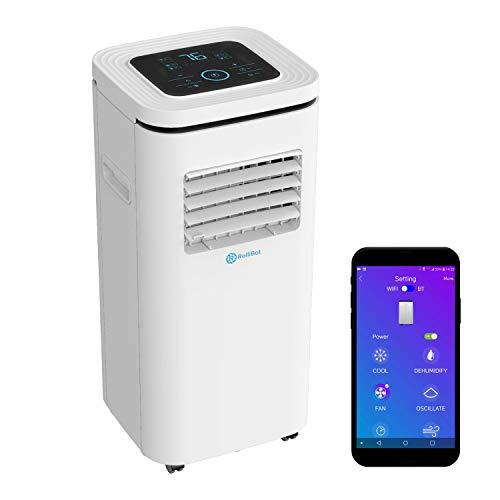 Rollibot ROLLICOOL Portable Air Conditioner w/App & Alexa Voice Control   Wi-Fi Enabled Portable AC & Dehumidifier   Quiet Operation, Easy Installation (10,000 BTU, White)