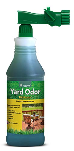 NaturVet  Yard Odor Eliminator  Eliminate Stool and Urine Odors from Lawn and Yard  Designed For Use on Grass, Plants, Patios, Gravel, Concrete & More  31.6 oz Ready-To-Use with Nozzle