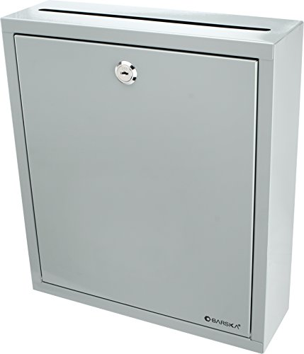 Barska CB12712 Large Multi-Purpose Drop Suggestion Mail Box,Grey