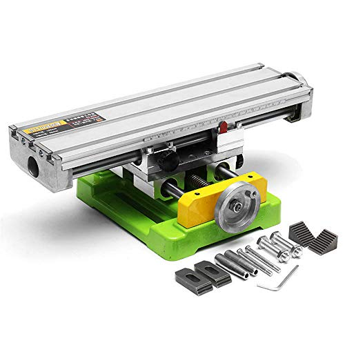Mini Precision Milling Machine Worktable Multifunction Drill Vise Fixture Working Table (Large (13.8'-3.9'))