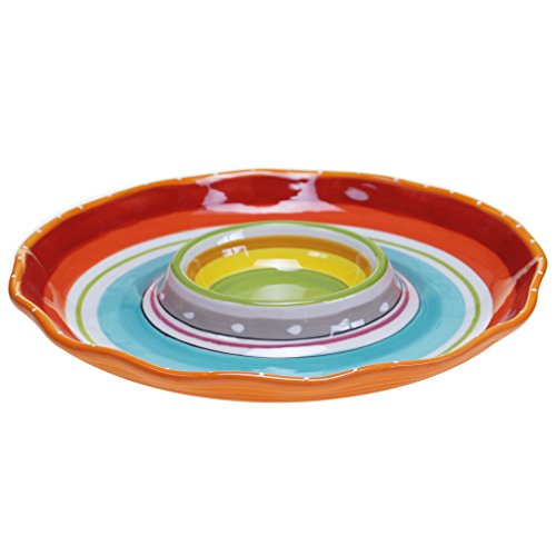 Certified International Mariachi Chip and Dip Serving Set, 13.5', Multicolor