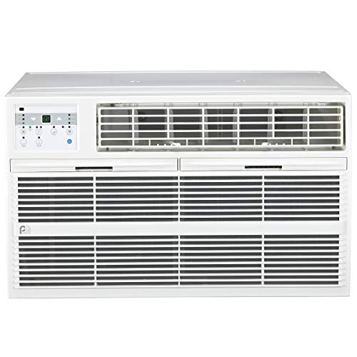 PerfectAire 12,000 BTU Through The Wall Heat/Cool Air Conditioner with Remote Control, 230V, White