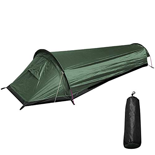 Heeyoo 1 Person Backpack Camping Tent, Ultralight Single Person Tent, Green