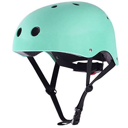 WIN.MAX Bike Helmet CPSC EN1078 Certified, Adjustable Durable for Bicycle Cycling Skateboard Scooter Multi-Sport from Toddler to Youth (Robin Egg Blue S)