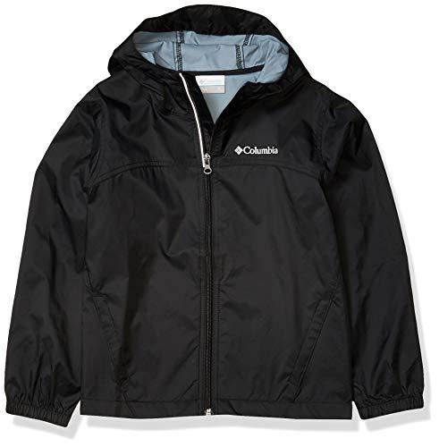 Columbia Boys Glennaker Rain Jacket, Waterproof & Breathable, Black, Large