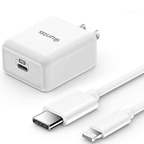 iPhone Fast Charger MFi Certified - Quntis 18W USB C Power Delivery Wall Charger Plug with 6FT C to Lightning Cable Type C Charger for iPhone 12 SE 2020 11 Xs Max XR X 8 Plus iPad Pro