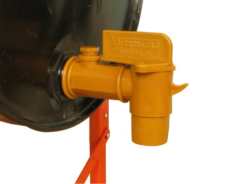 Wesco 272179 Polyethylene Deluxe Drum Faucet with EPDM Gasket, 2' NPT Connection