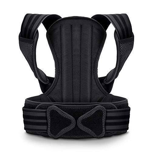 VOKKA Posture Corrector for Men and Women, Spine and Back Support, Providing Pain Relief for Neck, Back, Shoulders, Adjustable and Breathable Back Brace Improves Posture and Provides Back Support M