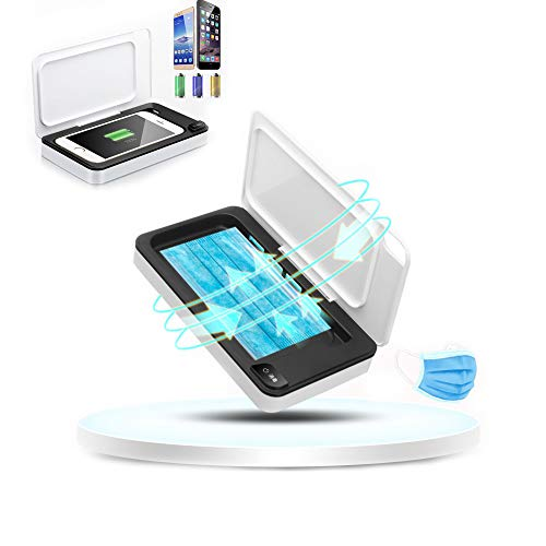 Cell Phone Disinfection, Smartphone Sanitizer, UV Lights Disinfection Box Cleaner Aromatherapy Function Disinfector for Smartphone Android iPhone