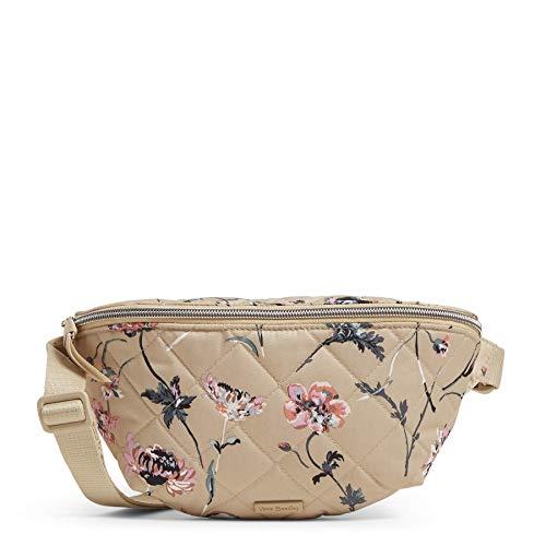 Vera Bradley Women's Performance Twill Convertible Crossbody Belt Bag with RFID Protection, Strawflowers