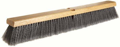 Weiler 42042 24' Block Size, Flagged Silver Polystyrene Fill, Fine Sweep Floor Brush