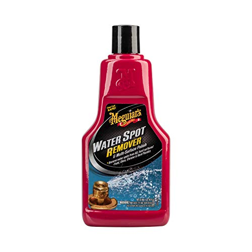 Meguiars Water Spot Remover  Water Stain Remover and Polish for All Hard Surfaces  A3714, 16 oz