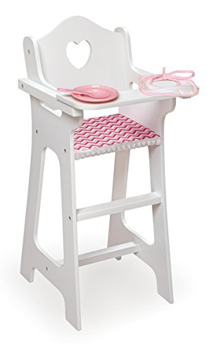 Badger Basket Chevron Doll High Chair with Accessories and Free Personalization Kit (fits American Girl Dolls)