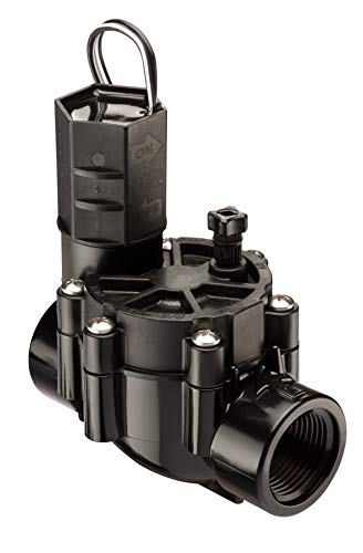 Rain Bird CP100 In-Line Automatic Sprinkler Valve, 1' Threaded Female x Female,Black