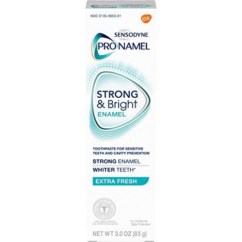 Sensodyne Pronamel Strong and Bright Enamel Toothpaste for Sensitive Teeth, to Reharden and Strengthen Enamel, Extra Fresh - 3 Ounces