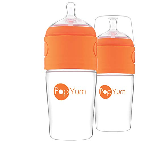 PopYum 9 oz Anti-Colic Formula Making/Mixing/Dispenser Baby Bottles, 2-Pack