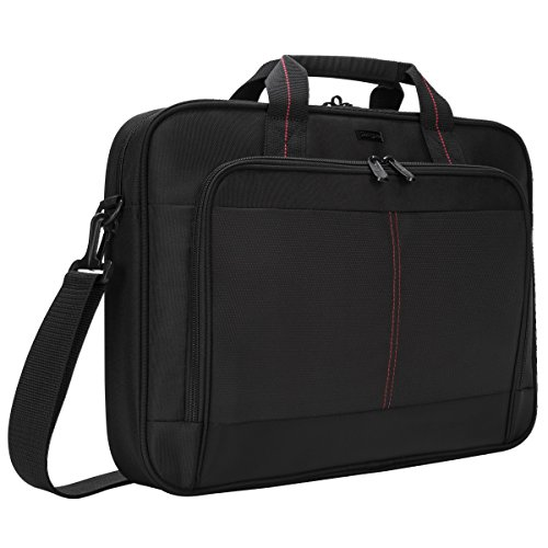 Targus Classic Slim Business Professional Travel and Commuter Bag for 16-Inch Laptop, Black (TCT027US)