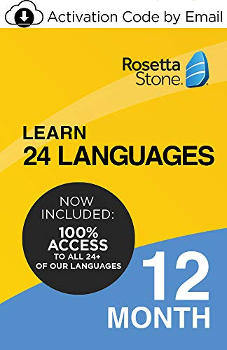Rosetta Stone Learn Unlimited Languages|12 Months - Learn 24 Languages| PC/Mac/iOS/Android Download