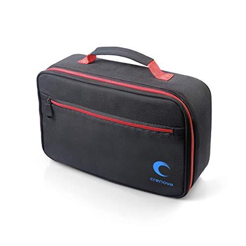 Crenova XPE500 Projector Carrying Bag, Portable Travel Projector Case for Mini Projector and Accessories (Fits Most Major Mini Projectors), Black