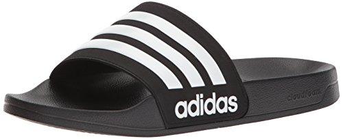 adidas Men's Adilette Shower Slide, Black/White/Black, 10 M US