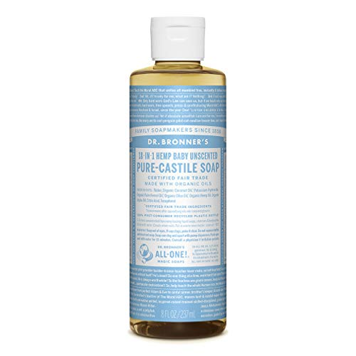 Dr. Bronner's - Pure-Castile Liquid Soap (Baby Unscented, 8 Fl Oz)