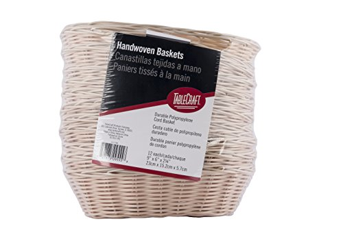TableCraft Products C1174W Basket, Oval, Natural, 9' x 6' x 2.25' (Pack of 12)