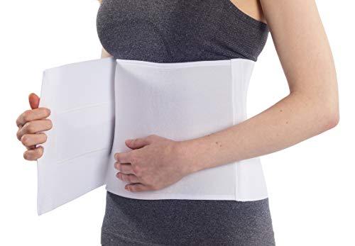 NYOrtho Plush Elastic Abdominal Binder - Soft Latex-Free Wrap for Men and Women (30' - 45') 3 Panel - 9'