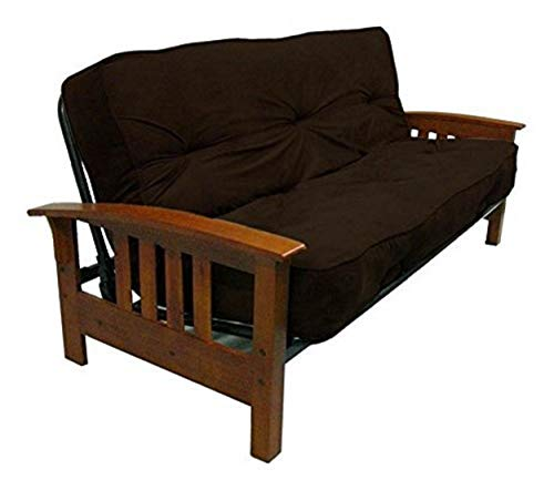 DHP 8-Inch Independently Encased Coil Futon Mattress, Full Size, Chocolate Brown, Frame Not Included