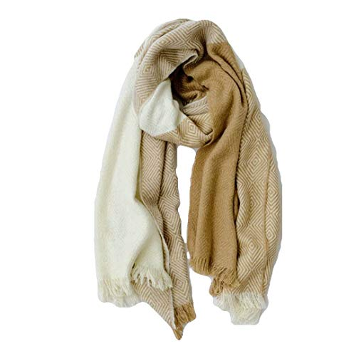 WOMEN'S SCARVES AND WRAPS pashmina Soft Comfortable Cashmere Shawl gift (yellow&cream)