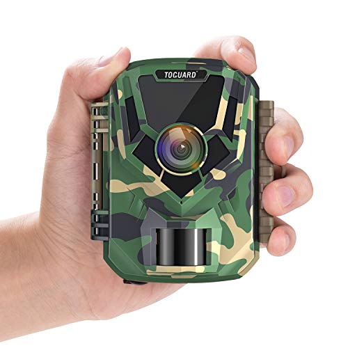 """Upgrade- TOGUARD Mini Trail Camera 16MP 1080P Game Camera 2"""" LCD Small Hunting Trap Camera with IR Night Vision 120° Wide Angle Waterproof Video Camera for Wildlife Monitoring and Home Observation"""