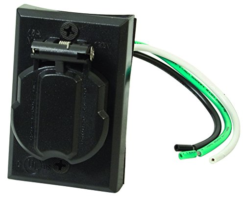Solus SCO-338 120V Grounded Convenience Electrical Outlet for Outdoor Lamp Post and Poles, Energy Saving and Weather Resistant, UL Listed, Black