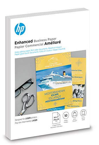HP Brochure Paper   Glossy   8.5x11   50 Sheets (4WN09A)