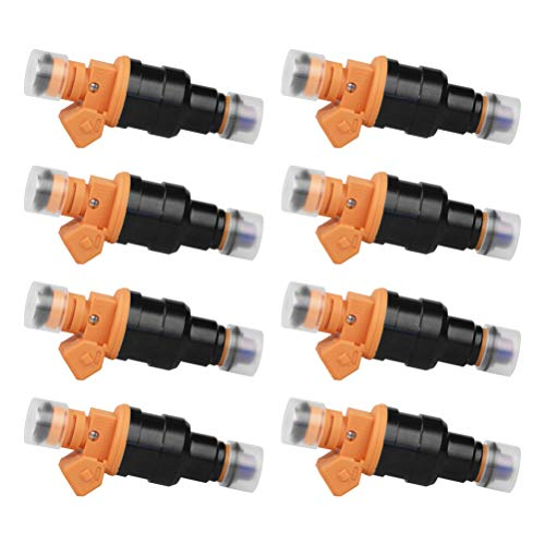 Fuel Injector Set of 8 - Replaces part 280150943, 0280150939, 0280150909 - Compatible with Ford, Lincoln & Mercury Vehicles - E250, F150, F250, F350, E350, Mustang - 4.6L, 5.0L, 5.4L, 5.8L