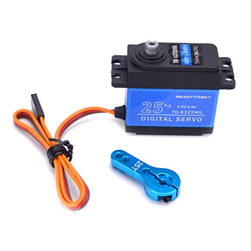 Readytosky RC Waterproof 25KG Servo High Torque Metal Gear Servo 180 Degree for RC Traxxas HSP Car Boat Helicopter Robot Airplane