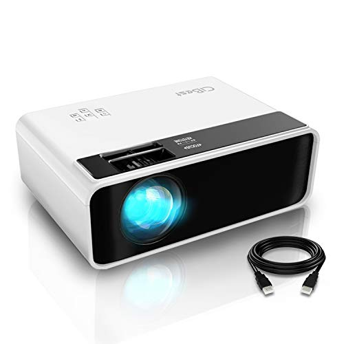 Mini Projector, CiBest Video Projector Outdoor Movie Projector, 4200 lux LED Portable Home Theater Projector 1080P and 200' Supported, Compatible with PS4, PC via HDMI, VGA, TF, AV and USB