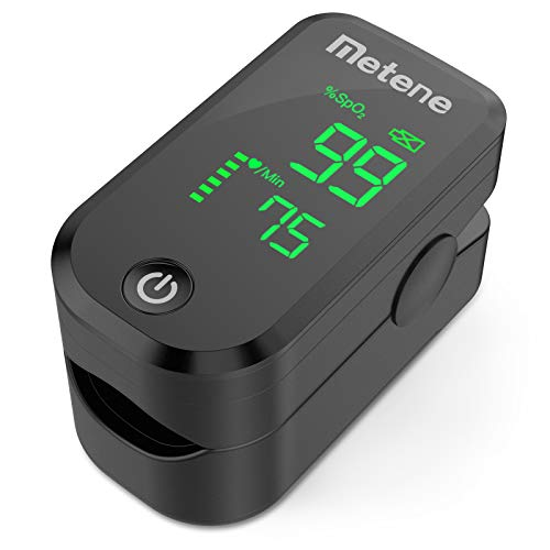 Pulse Oximeter Fingertip, Blood Oxygen Saturation Monitor, Heart Rate and Fast Spo2 Reading Oxygen Meter, Large LED Display - Portable Oximeter with Lanyard and Batteries