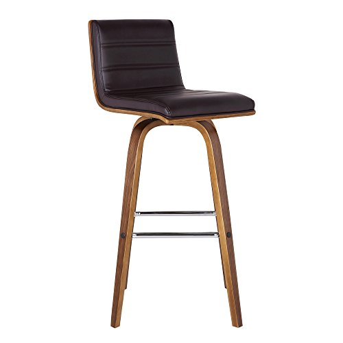 Armen Living Vienna Counter Height Bar Stool Kitchen and Dining , 26' Brown/Walnut, More color/size option