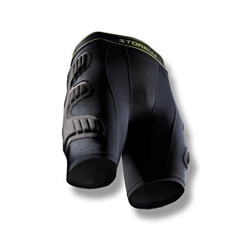Storelli BodyShield Unisex Goalkeeper Sliders 1.0   Padded Soccer Sliding Undershorts   Enhanced Lower Body Protection   Black   Youth Small