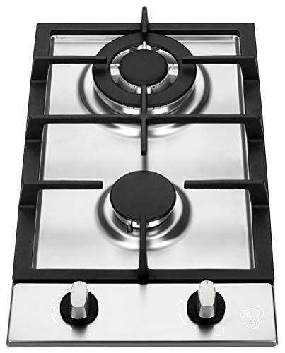 K&H 2 Burner 12' Built-in LPG/Propane Gas Stainless Steel Cast Iron Cooktop 2-SSW-LPG