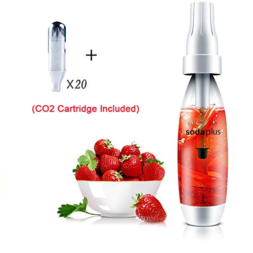 HXZB 1L Soda Siphon Carbonated Seltzer Water Maker Homemade Sparkling Beverages Machine with 20 Standard CO2 Chargers