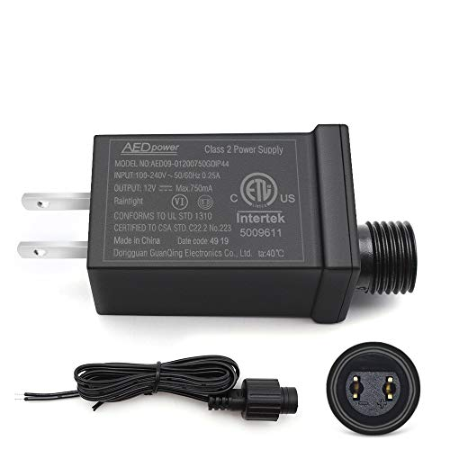 12V9W Led Class 2 Power Supply, IP44 Waterproof LED Adapter Driver Transformer for Christmas Tree, String Light, Projector Light, Lawn Lamp