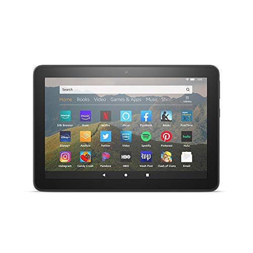 All-new Fire HD 8 tablet, 8' HD display, 32 GB, designed for portable entertainment, Black