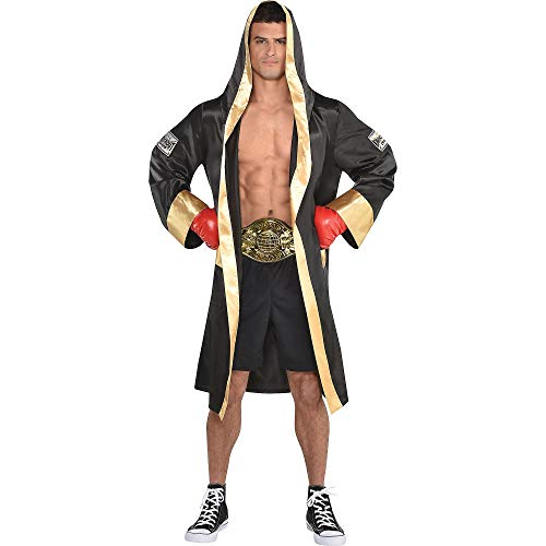 amscan Adult Boxing Robe Costume, Multi, One Size