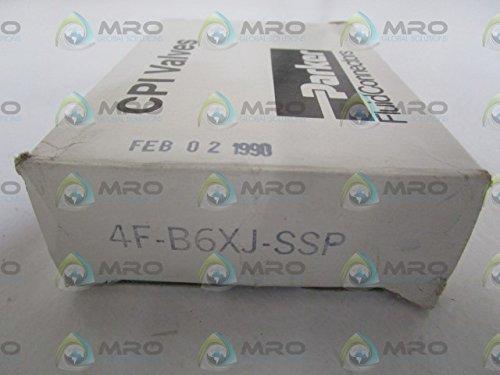 Parker Hannifin 4F-B6XJ2-SSP Series B6X Series Stainless Steel 3-Way Ball Valve, PCTFE Seat, PTFE Seal, 1/4' Female NPT Port