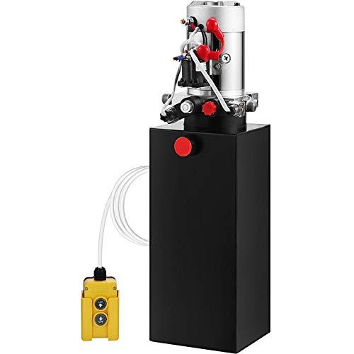 Mophorn Hydraulic Power Unit 10 Quart Hydraulic Pump Double Acting Power Unit Dump Trailer for Dump Trailer Car Lifting 3200 PSI (Steel, 10 Quart/Double Acting)